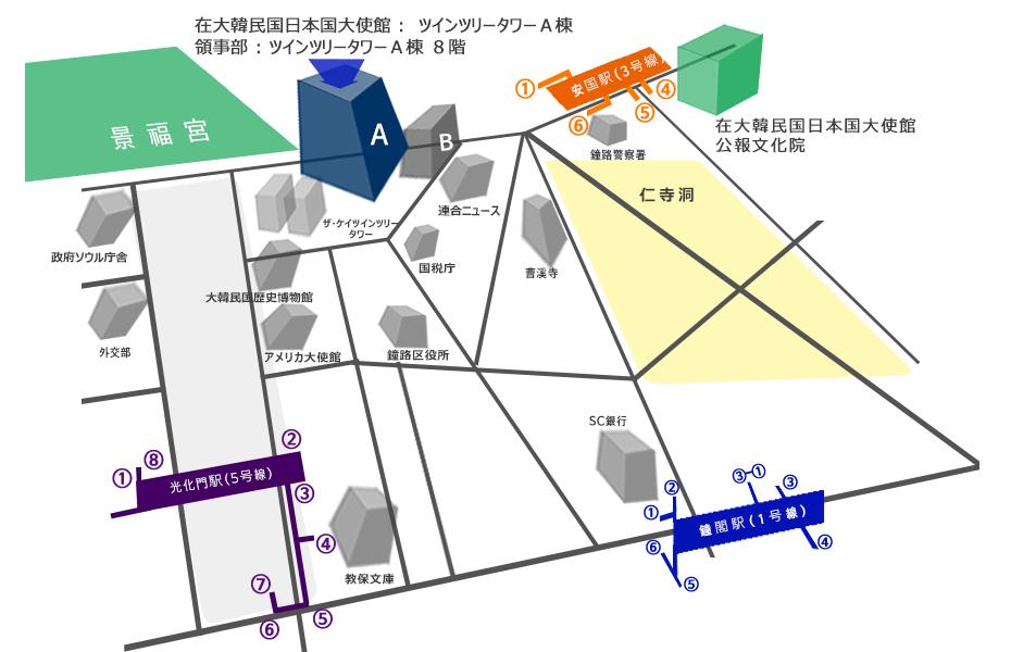 日本領事館地図