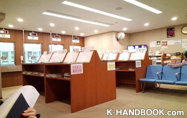 日本領事館の内部