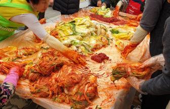 韓国のキムジャン風景