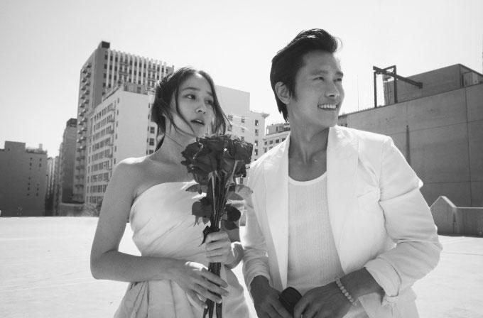 イビョンホンとイミンジョンの結婚写真