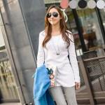 可愛いプリントデザインのTシャツ&レギンス♪シンプルで使いやすい!カラー豊富なロングシャツ