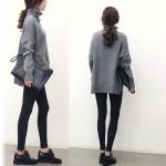 フェミニンカジュアルに万能アイテム☆タートルネックニット、起毛ストライプTシャツ、ビンテージフレンチコート