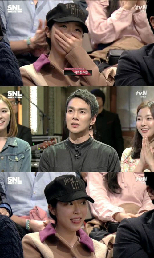 俳優イ・ギュハン、「SNL KOREA」で8歳年下の交際相手の顔を公開!
