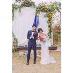ユン・スンア、キム・ムヨルとの幸せいっぱい、非公式結婚式の写真を公開!!