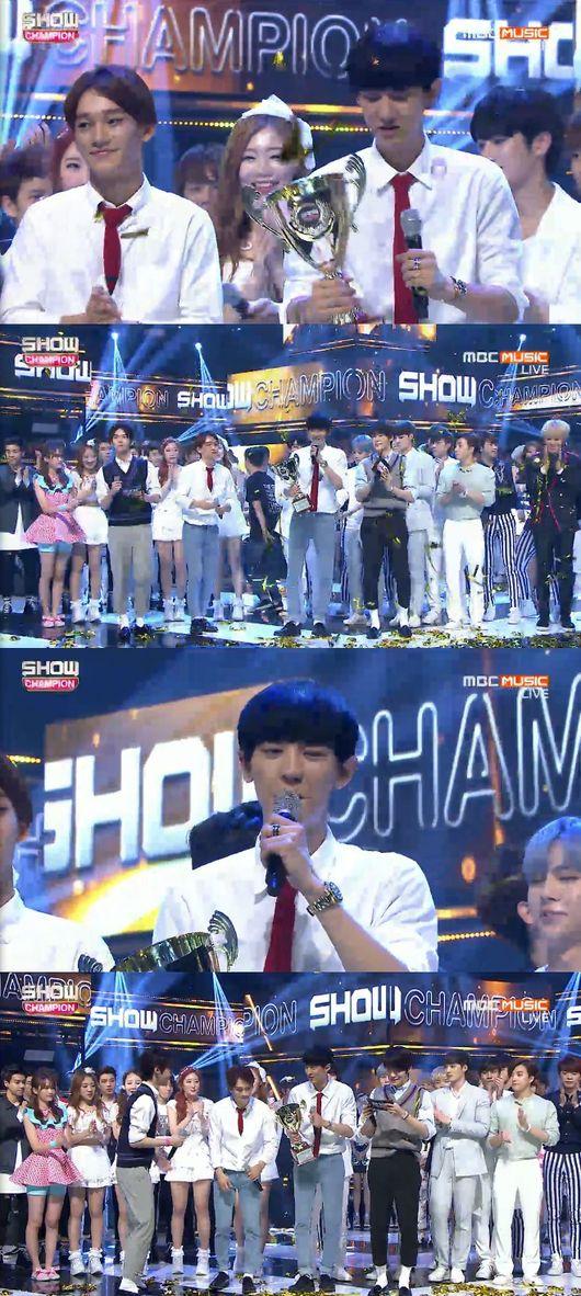 「SHOW CHAMPION」EXOの写真