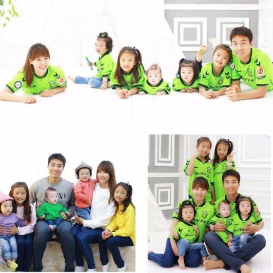 イ・ドングク家族写真