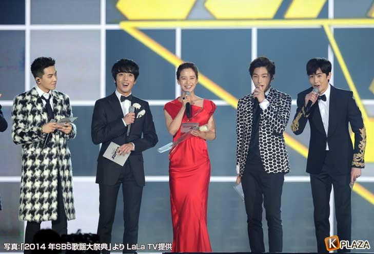 LUCKY-BOYS(ミンホ、ヨンファ、エル、ニックン)、ソン・ジヒョ