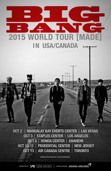 BIGBANG北米ツアーの写真20151005