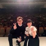 dTV日本独占ドラマ「シークレット・メッセージ」プレミアムイベント 上野樹里&T.O.P from BIGBANG チェ・スンヒョンが、「幸せです!」と日本のファンに感謝