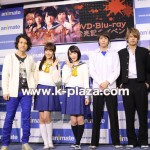 生駒里奈主演「コープスパーティー」囲み会見&フォトセッション、JUN(BEE SHUFFLE)も登壇!
