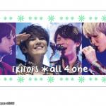 TRITOPS*半年ぶりの新曲『all 4 one(ピアノVer.)』を配信&MUSIC CARD数量限定販売へ!