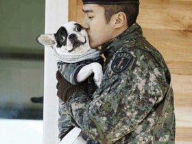 シウォンと愛犬バグジー