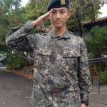 2PMテギョン、白馬部隊に配置、陸軍新兵教育大隊の助教として服務中