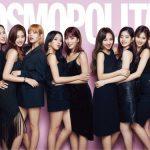 TWICE、韓国女性雑誌「COSMOPOLITAN」2018年1月号の表紙とグラビアを飾る