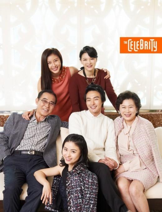 ハ・ジウォンと家族