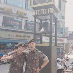 """""""軍入隊中""""2PMテギョン&Jun. K、軍休暇の様子をSNSで公開!「今日の半人前たち」"""