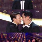 「2018 MBC演技大賞」、栄誉の大賞は「私の後ろにテリウス」ソ・ジソブ!!カン・ギヨンがドラマでお馴染みの鼻キスでお祝い