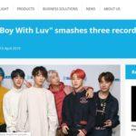 防弾少年団(BTS)、新曲「Boy with Luv」でギネス3部門新記録!