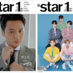 AB6IX、ピョン・ヨハンと@star1(アットスタイル)5月号の両面表紙を飾る