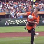 FTISLAND チェ・ミンファン、息子抱いたまま投球して議論に・・・