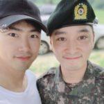2PMの友情!テギョン、チャンソンの基礎軍事訓練を修了式に出席