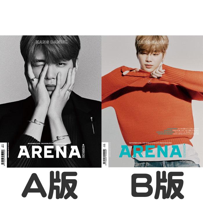 韓国雑誌 ARENA HOMME+(アレナ オンム プラス) 2019年9月号 カン・ダニエル表紙