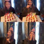 BoA、誕生日を迎えケーキの前で無邪気にはしゃぐ!「ヤッター私の誕生日」