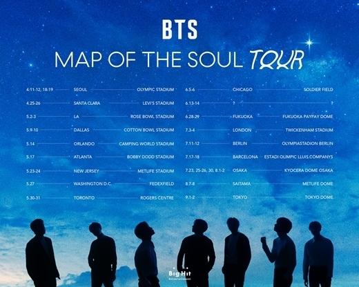 ワールドツアー「BTS MAP OF THE SOUL TOUR」