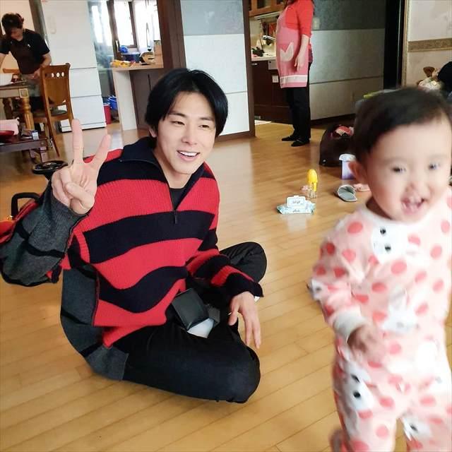 ユンホと姪のウンチェちゃん