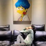 BTSテヒョンのパジャマが韓国ファンの間で話題に!ファンが描いたシンプソンズのイラスト公開