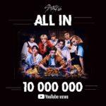 Stray Kids フジテレビ系「Love music」出演決定!「ALL IN」のMVがYouTube1000万回再生突破