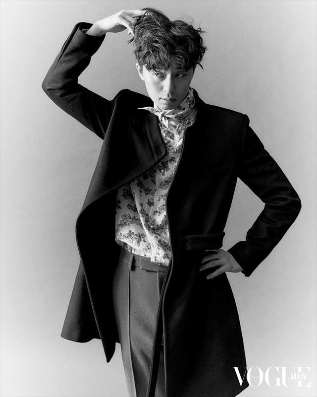 パク・ソジュン香港版「Vogue Man」創刊号